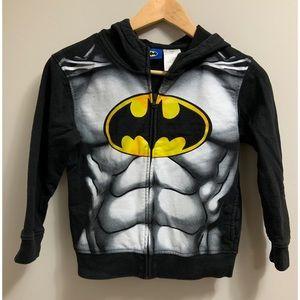 Boy's Batman Zip-up Hooded Sweater | Size 8